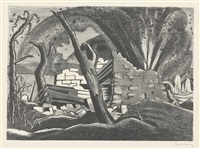 a shell bursting, passchendaele by paul nash