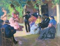 scène de danse espagnole by alexandre lunois