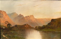 sunset on the river by montgomery ansell