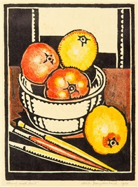 bowl with fruit by adele younghusband