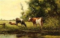 cows in a landscape by fedor van kregten