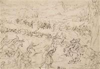 saint paul journeying to damascus by jacques de gheyn ii