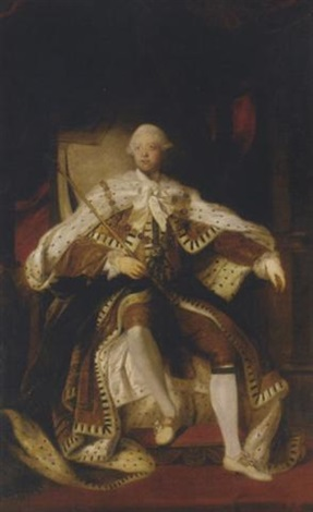 Portrait Of King George Iii Seated In The Coronation Chair, In Robes Of  State,