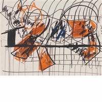 animal in cage (+ night scene; 2 works) by gandy brodie