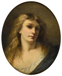 Portrait d'une jolie blonde, 1850