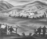 view of alcatraz by hugh warwick littlejohn