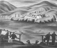 view of alcatraz by hugh warwick littlejohn
