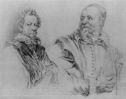portraits of hendrik van balen and jan snellincx after the iconography engravings of van dyck by alexandre pierre alexandre tardieu