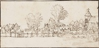view of a village by cornelis massys