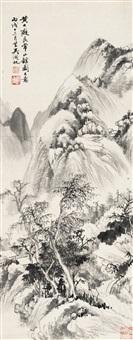 吴湖帆(1894-1968) 仿良常山馆图 by wu hufan