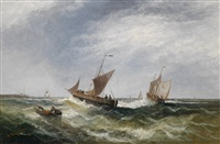 segelschiffe vor dem pier by william p. rogers