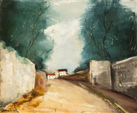 route de village by maurice de vlaminck
