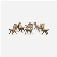 set of eight chairs from chandigarh by pierre jeanneret