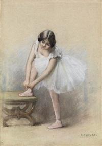 danseuse mettant son chausson by fanny laurent fleury