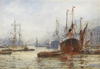 woolwich reach, london by frederick william scarborough