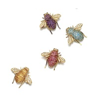 brooches designed as bees (set of 4) by sabbadini