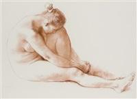 desnudo sentada by francisco zúñiga