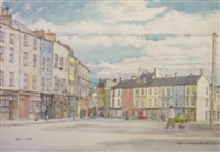 evening, the coal quay and kyrle street, cork by marshall c. hutson