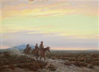 riders return by victor clyde forsythe
