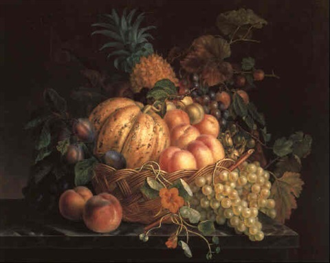 a still life with fruit by augustine vervloet