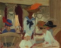 the foyer by charles hoffbauer