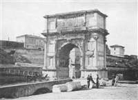 l'arc de titus vespasien à rome by gioacchino altobelli