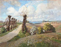 view from holbæk in denmark by carl forup