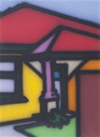 untitled (home with a column) by howard arkley