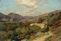 italienische landschaft by carl julius e. ludwig
