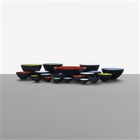 collection of twenty krenit bowls (set of 20) by herbert krenchel