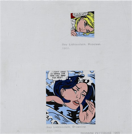 roy lichtenstein hopeless roy lichtenstein drowning girl by richard pettibone