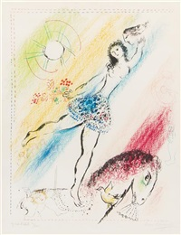 circus girl rider by marc chagall