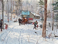 maple sugar time by peter etril snyder