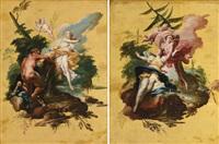 scene allegoriche (pair) by filippo falciatore