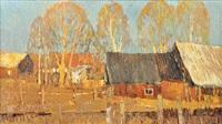 russian village by alexandre kremer