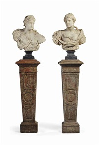 busts, possibly representing goddesses (pair) by anonymous-italian