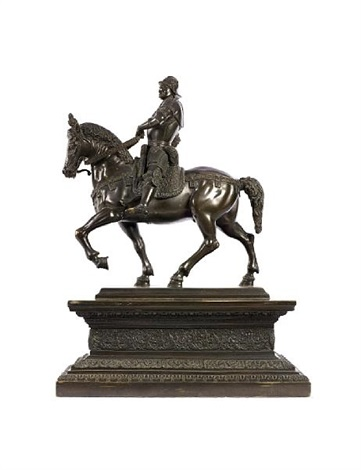 equestrian monument to barolomeo colleoni model by andrea del verrocchio