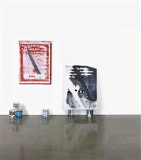 untitled (from the series: guyton \ walker: empire strikes back) (on 2 canvases) by kelley walker and wade guyton