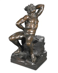 seated satyr by bartolomeo ammannati
