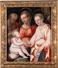 madonna mit kind, dem hl. joseph und der hl. katharina by giorgio vasari