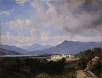 view of patzcuaro, mexico by jean baptiste louis (baron gros) gros