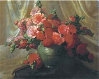 a still life with flowers by josef pilters
