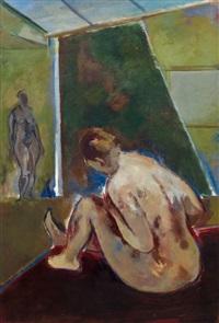 sitting nude in studio iv by joseph floch