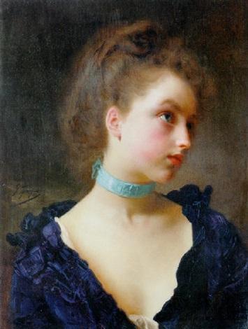 Delicate beauty by Gustave Jean Jacquet on artnet