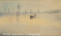 canoe on the marsh by alice ravenel huger smith