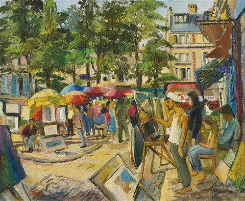 place du tertre by lois mailou jones