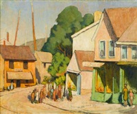 street by the harbor by yarnall abbott