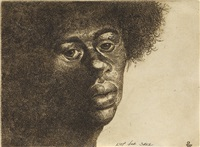 head of a man, in profile * head of a woman, three quarter profile by charles wilbert white