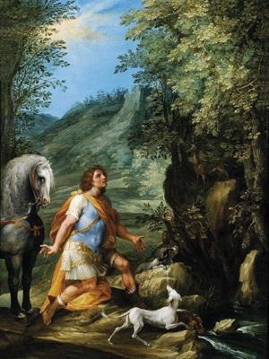 der heilige eustachius sant eustachio by francesco allegrini