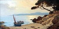 barques sur le rivage by jean keuléyan lafon